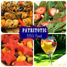 Patriotic BBQ themed food. Great for Memorial day, 4th of July, or Labor day!