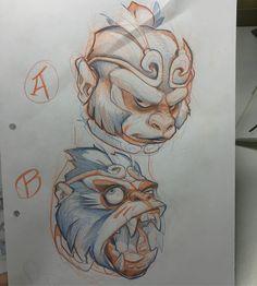 Please help me! (A or B) Sketchbook Drawings, Tattoo Drawings, Drawing Sketches, Tattoo Sketches, Art Drawings, Japanese Tattoo Designs, Japanese Tattoo Art, Animal Sketches, Animal Drawings
