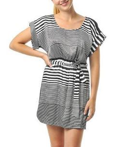 (CLICK IMAGE TWICE FOR DETAILS AND PRICING) Patricia Striped Satin Dress Black. The versatility of this print allows you to change your look every time by switching the jacket for a cardigan or the heels for flats.. See More Casual Dress at http://www.ourgreatshop.com/Casual-Dress-C81.aspx