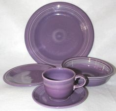 Fiesta Fiestaware Lilac Purple 5 Piece Place Setting RARE Color | eBay >>> WANT!!! <3 I hate that this color is retired :(