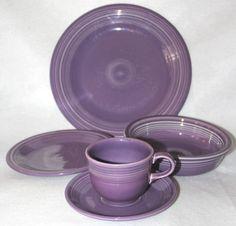 Fiesta Fiestaware Lilac Purple 5 Piece Place Setting RARE Color | eBay \u003e\u003e\u003e WANT & Denby Halo 12-Pc. Dinnerware Set Service for 4 | Shops Halo and 12.