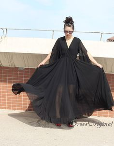 elegant black maxi dress black party dresses by DressOriginal