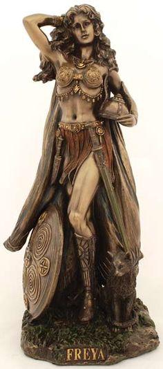 Very warrior-goddess-like! Freya, goddess for September 2013 at the Soul Path Tribe.