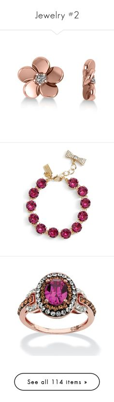 """Jewelry #2"" by annakennedy70 ❤ liked on Polyvore featuring jewelry, earrings, glitter stud earrings, 14k stud earrings, 14 karat gold stud earrings, 14 karat gold diamond earrings, stud earrings, bracelets, fuschia and sparkle jewelry"