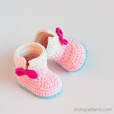 Image result for crochet baby booties