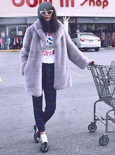 Whistles Fur Coat | Shopbop
