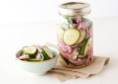 Cucumber Salad  This is the best recipe. I have made these all summer. It is a MUST try. I use white wine vinegar instead of distilled.