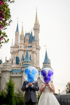 Have a little fun at your Magic Kingdom portrait session with Disney's Fairy Tale Weddings