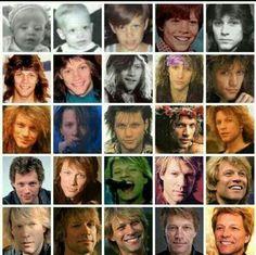 Evolution of Jon Bon Jovi throughtout the years, and still going!