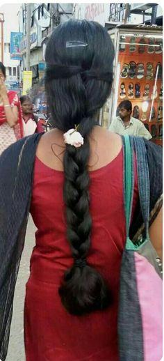 Long Bob Hairstyles, Indian Hairstyles, Braided Hairstyles, Beautiful Braids, Beautiful Long Hair, Indian Long Hair Braid, Ponytail Updo, Super Long Hair, Cut My Hair