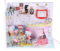 This is a DIY kit, The cute Hello Kitty House makes a great craft project and gift for both children and collectors! All the materials are the...https://www.etsy.com/shop/ClaygoMiniatures?ref=l2-shop-header-avatar
