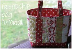 ps i quilt: friendship bag tutorial. A small bag. Would be cute for holding a gift - a mug rug with a cup?