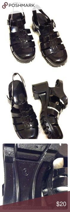 """NWOT Made in USA Plastic Clog Size 6 Soft, light and comfortable Clog to wear daily at work or home. Good to wear on rainy days too. Waterproof with adjustable strap. About 2"""" heel. other Shoes Sandals"""