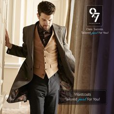 A classic, #formal and elegant accompaniment can add the finishing touches to your #Style That Truly Defines You ! #waistcoat #weddings #Menswear #mumbai #chembur #groom #9to7fashions. Call: 8080927927, Visit us today http://www.9to7fashions.com/