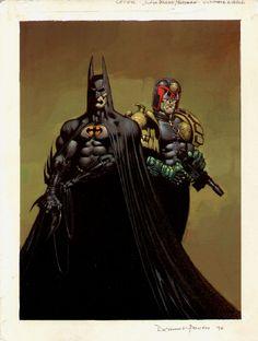 Power- Batman/Judge Dredd: The Ultimate Riddle cover Comic Art