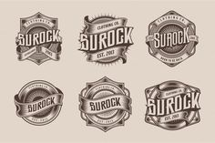 Logo Bundle on Behance Calligraphy Text, Coin Design, Typography, Lettering, Rock Outfits, Creative Logo, Modern Logo, Clothing Co, Logo Templates
