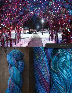 hand dyed yarn by the blue brick