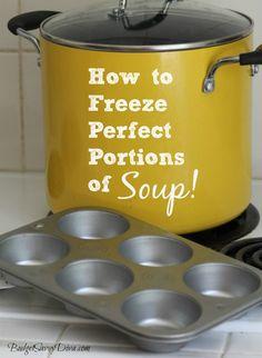 Goed idee om kleine porties soep in te vriezen