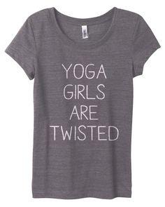 Yoga Girls are twisted woman yoga shirt on Etsy, kr Yoga Fashion, Fitness Fashion, Zumba, Pilates, Woman Yoga, Yoga Wear, Yoga Meditation, Namaste Yoga, My Yoga