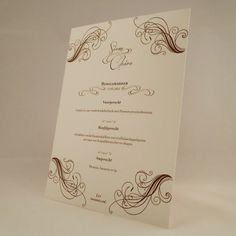 Dinnercard for my friends wedding