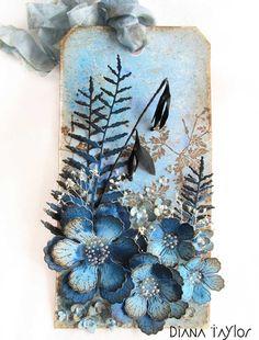 Night Garden tag by Velvet Moth Studio