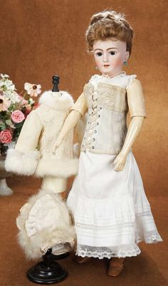 German Bisque Lady Doll,1159,by Simon and Halbig with Original Lingerie circa 1910. Http://Theriaults.com
