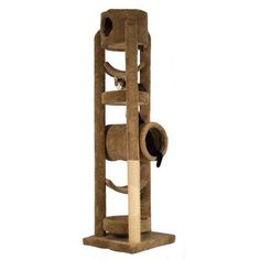 """Molly and Friends 86"""" The Virgie Cat Tree Color: Hunter Green, Poles Color: Medium Grey"""
