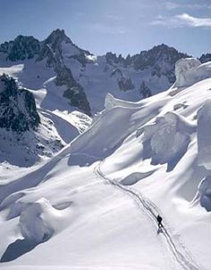 Argentiere, France.   Skiing and sun are almost guaranteed.
