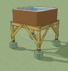 Idea for a #HotTub #Deck Design and Framing Platform