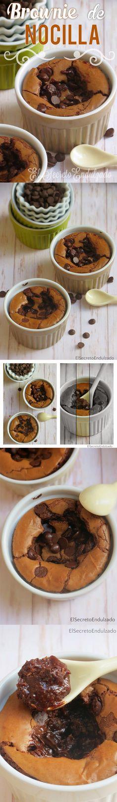 Brownies rápidos de Nocilla / http://elsecretoendulzado.blogspot.com.es/