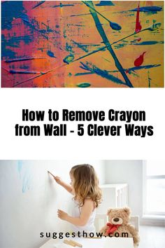 Kids enjoy drawing on the walls with crayon and this does not mean the end of having clean walls at your home. Using simple tricks can help you clean the wall easily. Here is how to remove crayon from wall easily. #homehacks #clean #DIY #cleaningtips #cleanconte #cleanwax Household Cleaning Tips, Deep Cleaning Tips, Cleaning Walls, Bathroom Cleaning, Pencil Eraser, House Wall, Neat And Tidy, Housekeeping, Clean House