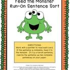 This product makes for a fun center to practice determining whether sentences are complete or run-on sentences.  Students will enjoy feeding the co...