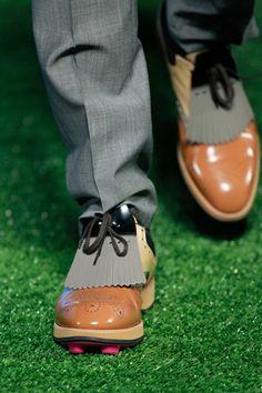 68e2e3802d9 Miuccia made golf-inspired shoes both awkward and attractive. Mens Golf  Fashion