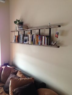 Added so much to our living room! Just am old painter ladder
