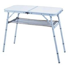 Ming 's Mark -Ming's Mark TA-8104 31 X 15 X 27 Four Position Aluminum Folding Table with Mesh Shelf