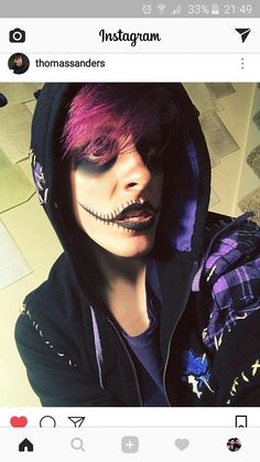 Virgil's new outfit already looked a little like Sally from Nightmare Before Christmas, so I crossed that with a little Jack Skellington. Happy Halloween Month, everyone! (Makeup by 🎃👻🦇 Thomas Sanders, Logan, Sander Sides, Spotify Playlist, Thomas And Friends, Markiplier, Dan And Phil, New Outfits, Youtubers
