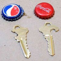 DIY - how to make a spare key from soda bottle - is this really possible?? will have to give it a try!
