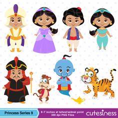 Princess Digital Clipart Princess Clipart Aladdin by Cutesiness Little Princess, Cute Princess, Jasmin Party, Aladdin Party, Decoration Evenementielle, Princesa Jasmine, Aladdin And Jasmine, Disney Scrapbook, Princesas Disney