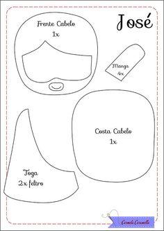 Carmela Caramella : Presépio - aula 2 - moldes