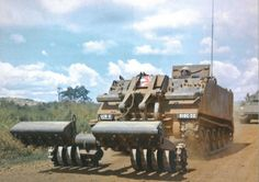 M113 mine sweeper of the 919th Engr Co, 11th ACR, Long Giao, November 1968