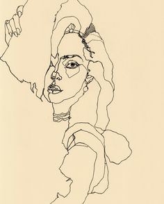 Lady Gaga line illustration by Natasa Kekanovic.