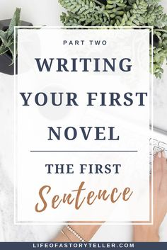 There's no denying that the first sentence in a novel is the toughest and makes you want to pull your hair out. Personally, I'm not a big fan of them, and I
