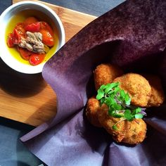 Say hello to our newest dish: Fried cauliflower served with a tomato confit, anchovy oil dressing! - Church Aperitivo Bar #nomnom #toronto #queenwest #tastetoronto