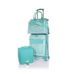 Samantha Brown Houndstooth Spinner 3-piece Luggage Set