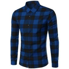 Slimming Color Block Plaid Shirt Collar Long Sleeves Shirt For Men ($18) ❤ liked on Polyvore featuring men's fashion, men's clothing, men's shirts, men's casual shirts, men, mens color block shirt, mens long sleeve shirts, mens longsleeve shirts, mens slim fit shirts and mens long sleeve casual shirts