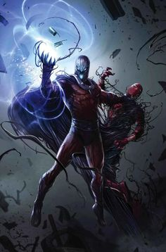 Astonishing X-Men #3 (2017) Magneto Venomized Variant Cover by Francesco Mattina