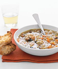 Jack loves this version of Mushroom Barley Soup! Another freezer-friendly staple for my toddler