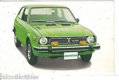 Honda Civic CVCC-Vintage Post Card