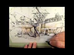 Conceptual Interior Perspective Rendering by UNT Graphics. - Idé - detaljerte tegninger og enkel tusjføring.