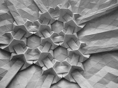 Origami by Andrea Russo...wow! looks like electron microscope image